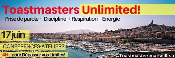DECOUVREZ Toastmasters Unlimited Marseille le 17 juin !